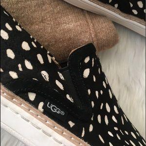 UGG Shoes - UGG Soleda Exotic Calf Hair Slip On Sneaker